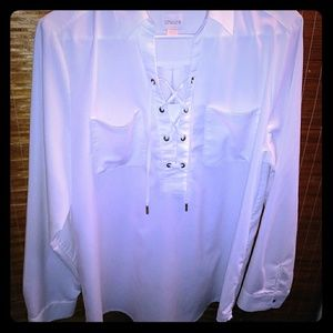 White Chicos size 2 blouse